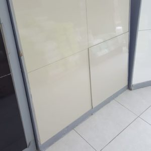 600×600 Victoria Ivory Polished Porcelain + Cement & Grout (R189.90/M2)