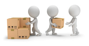d-small-people-unloading-cargo-unload-boxes-image-white-background-85535668