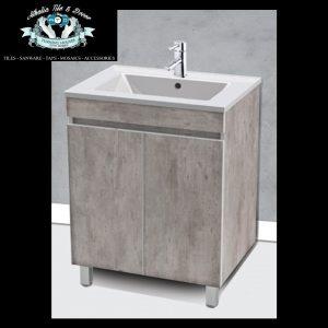 Floor Standing Basin & Vanity Grey