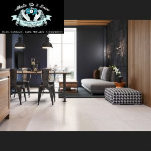 600×600 Dawson White Tile Matt Tile + Cement & Grout (R169.90/M2)