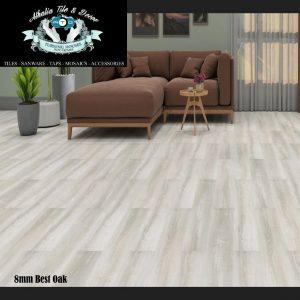 Best Oak 8mm Laminate Flooring + Underlay (R219.90/m2)