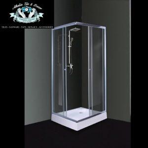 Earth Chrome Corner Entry Shower Door